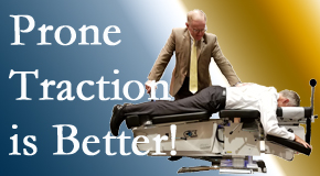 Williamson spinal traction applied lying face down – prone – is best according to the latest research. Visit Apple Country Chiropractic.