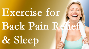 Apple Country Chiropractic shares recent research about the benefit of exercise for back pain relief and sleep.