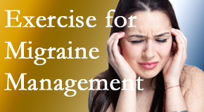 Apple Country Chiropractic incorporates exercise into the chiropractic treatment plan for migraine relief.