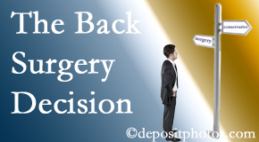 Williamson back surgery for a disc herniation is an option to be carefully studied before a decision is made to proceed.