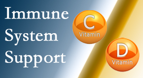 Apple Country Chiropractic presents details about the benefits of vitamins C and D for the immune system to fight infection.