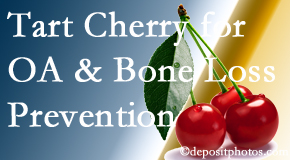 Apple Country Chiropractic shares that tart cherries may improve bone health and prevent osteoarthritis.