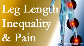 Apple Country Chiropractic tests for leg length inequality as it is related to back, hip and knee pain issues.