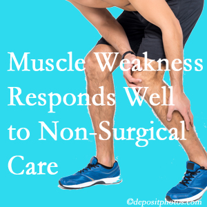 Williamson chiropractic non-surgical care manytimes improves muscle weakness in back and leg pain patients.