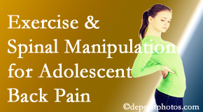 Apple Country Chiropractic uses Williamson chiropractic and exercise to relieve back pain in adolescents.