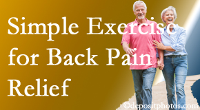 Apple Country Chiropractic suggests simple exercise as part of the Williamson chiropractic back pain relief plan.