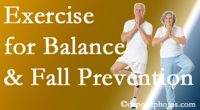 Williamson chiropractic care of balance for fall prevention involves stabilizing and proprioceptive exercise.