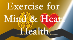 A healthy heart helps maintain a healthy mind, so Apple Country Chiropractic encourages exercise.