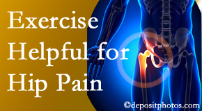 Apple Country Chiropractic may suggest exercise for hip pain relief along with other chiropractic care options.