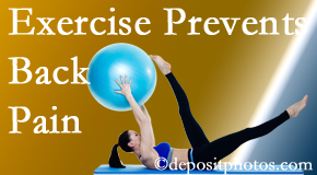 Apple Country Chiropractic encourages Williamson back pain prevention with exercise.