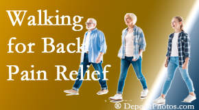 Apple Country Chiropractic often recommends walking for Williamson back pain sufferers.