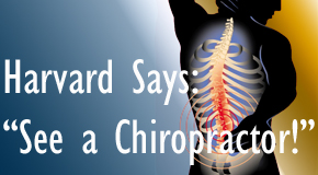 Williamson chiropractic for back pain relief urged by Harvard