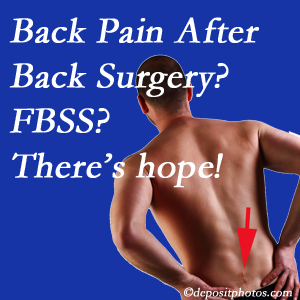 Williamson chiropractic care has a treatment plan for relieving post-back surgery continued pain (FBSS or failed back surgery syndrome).