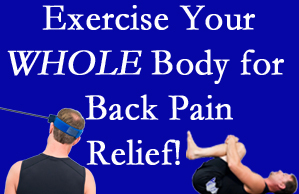 Williamson chiropractic care includes exercise to help enhance back pain relief at Apple Country Chiropractic.