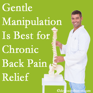 Gentle Williamson chiropractic treatment of chronic low back pain is best.
