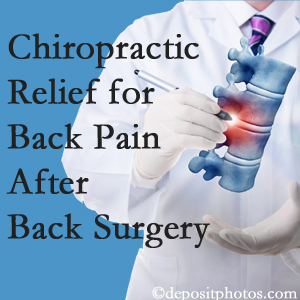 Apple Country Chiropractic offers back pain relief to patients who have already undergone back surgery and still have pain.