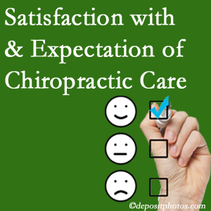 Williamson chiropractic care delivers patient satisfaction and meets patient expectations of pain relief.