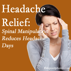 Williamson chiropractic care at Apple Country Chiropractic may reduce headache days each month.