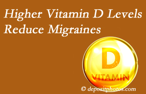 Apple Country Chiropractic shares a new paper that higher Vitamin D levels may reduce migraine headache incidence.